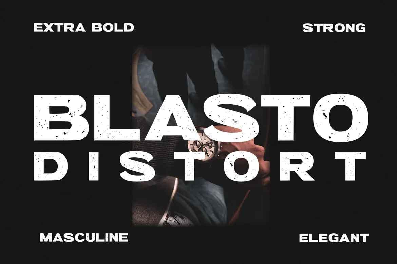 Blasto Distort Font