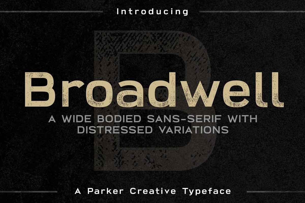 Broadwell Distressed Font