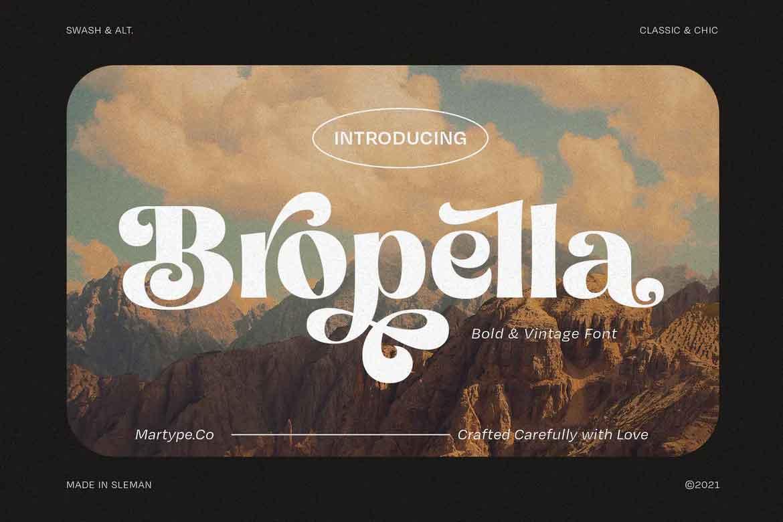 Bropella Font