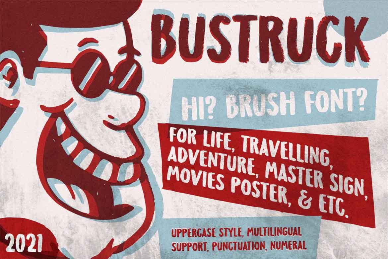 Bustruck Brush Font