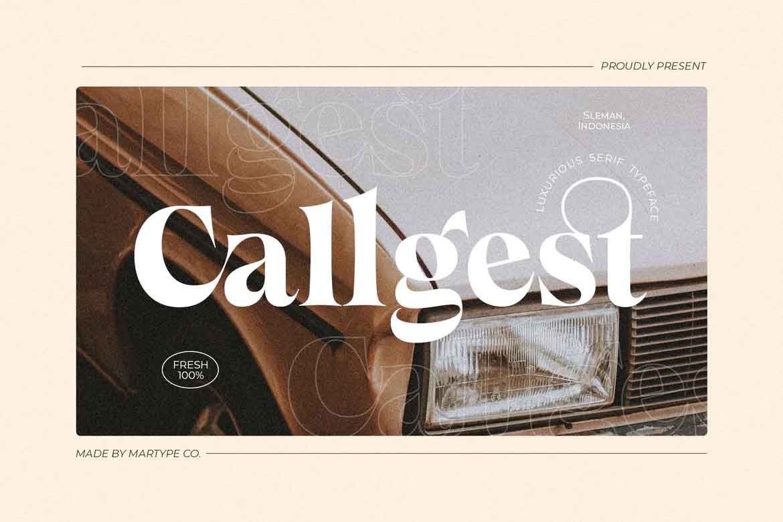 Callgest Font