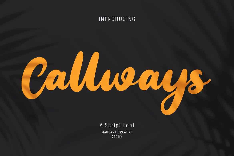 Callways Script Font