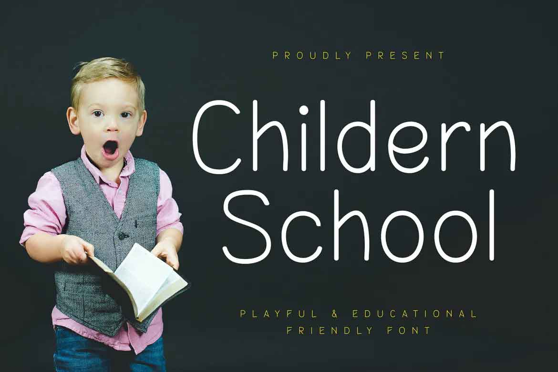 Childern School Font