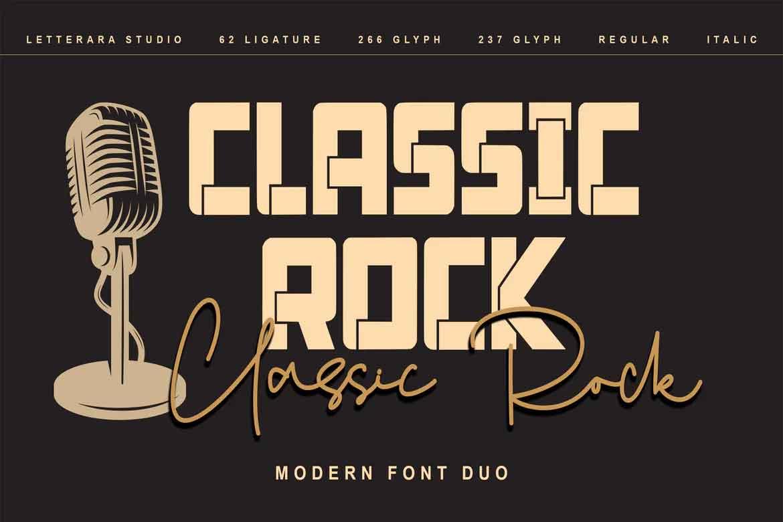Classic Rock Font