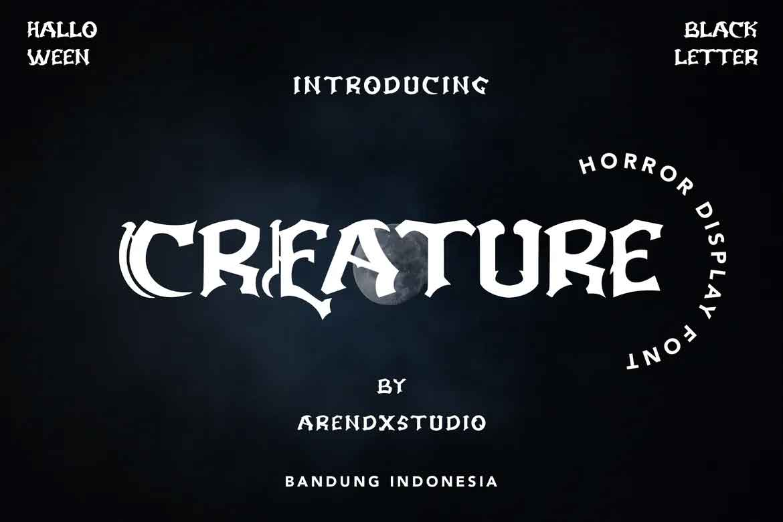 Creature Font