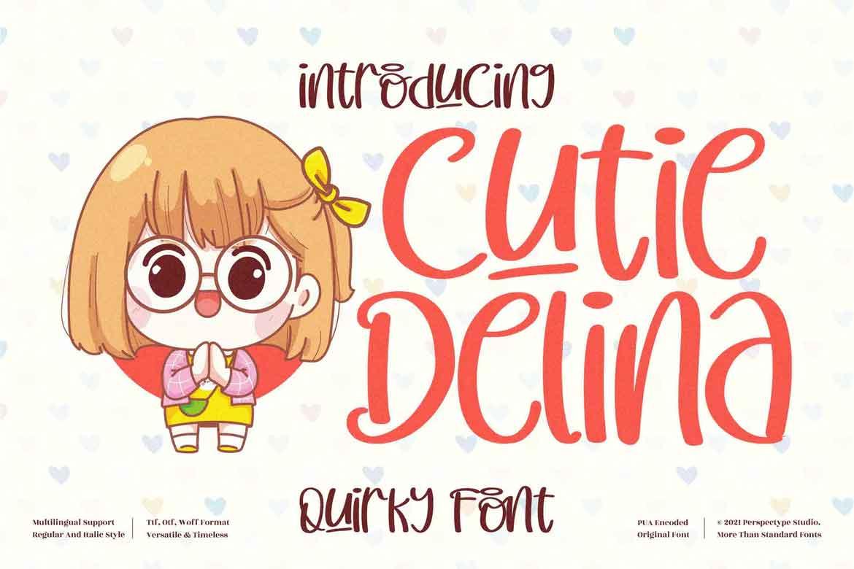 Cutie Delina Font