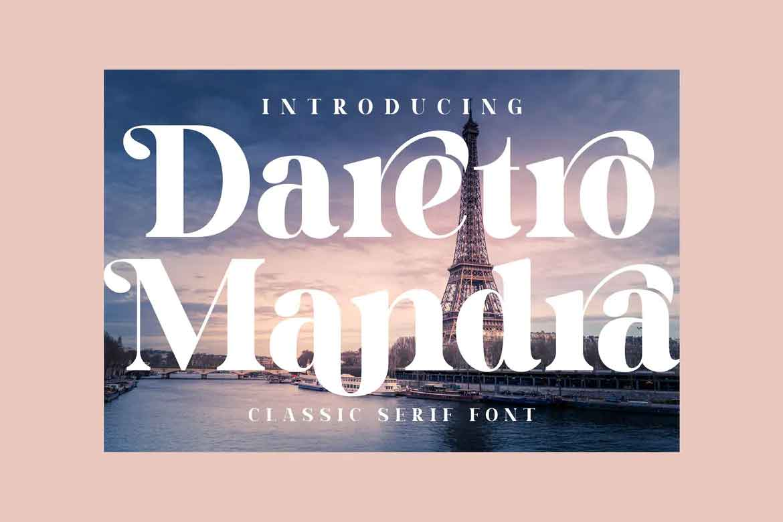 Daretro Mandra Font