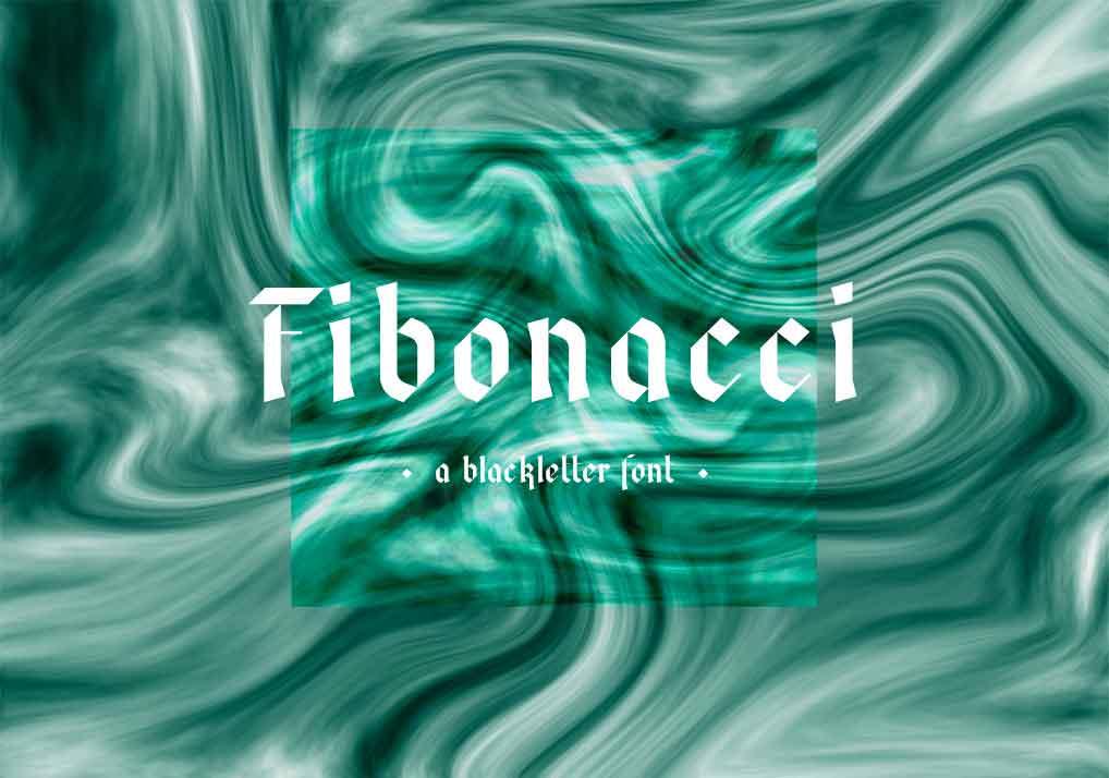 Fibonacci Fraktur Font