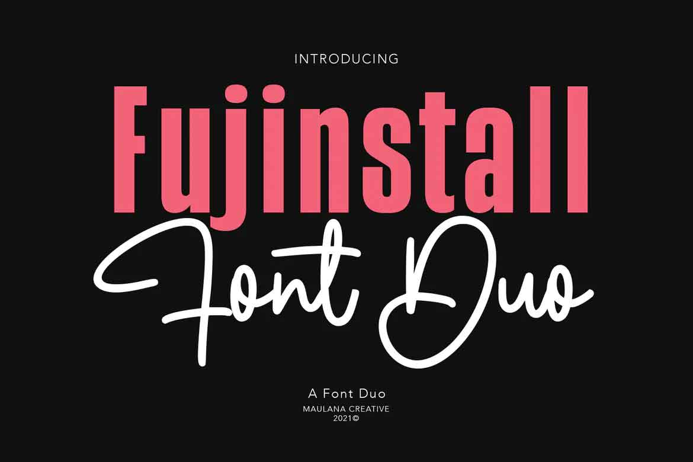 Fujinstall Font Duo