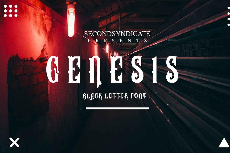 Genesis Font