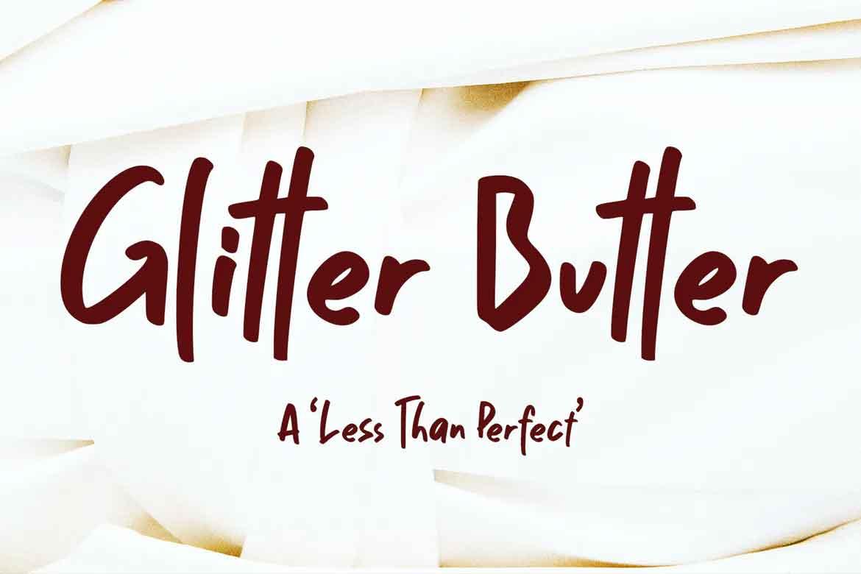 Glitter Butter Font
