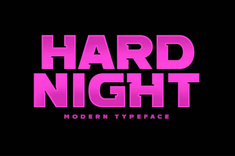 Hard Night Font