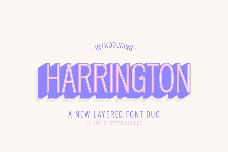 Harrington Font Family