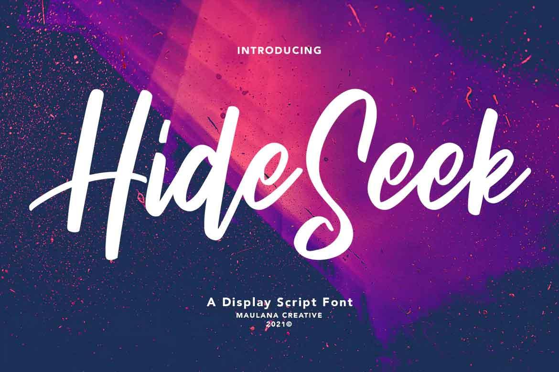 Hide Seek Font
