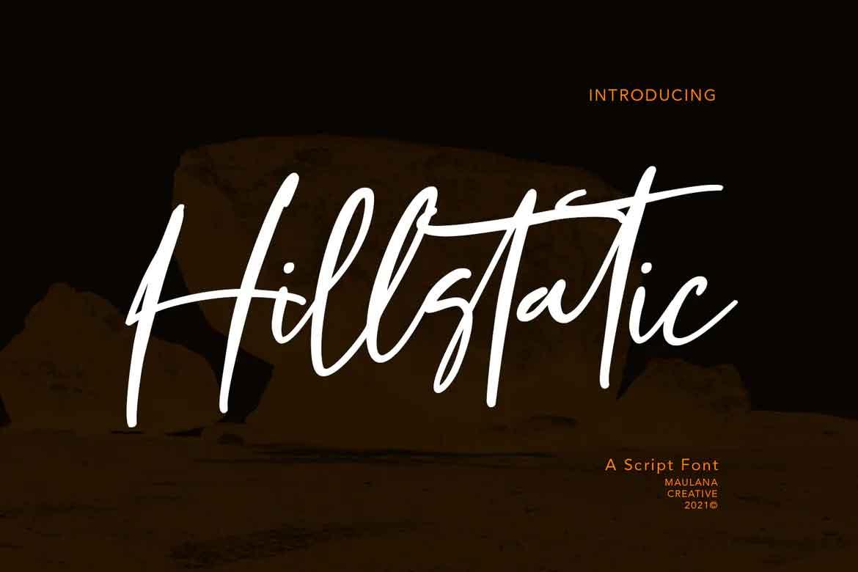 Hillstatic Script Font