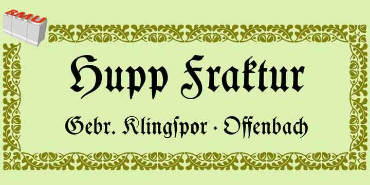Hupp Fraktur Font
