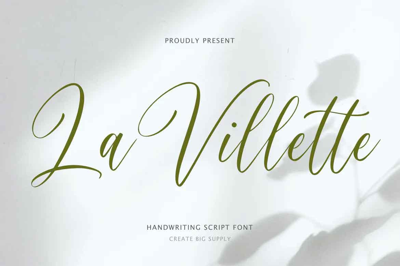 La Villette Script Font