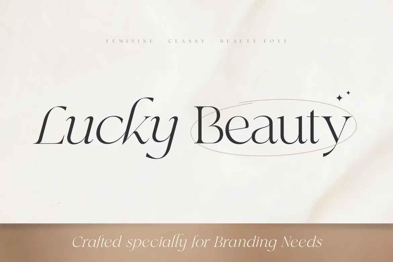 Lucky Beauty Font