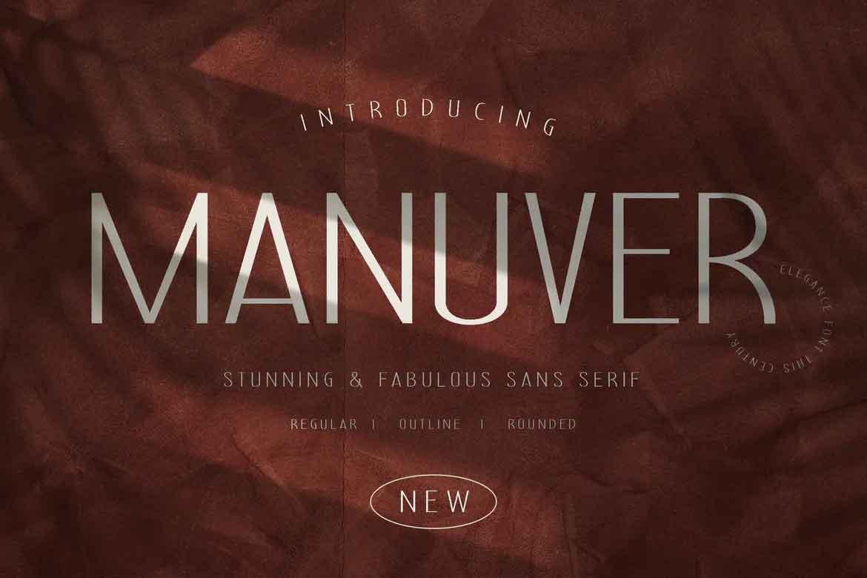 Manuver Font