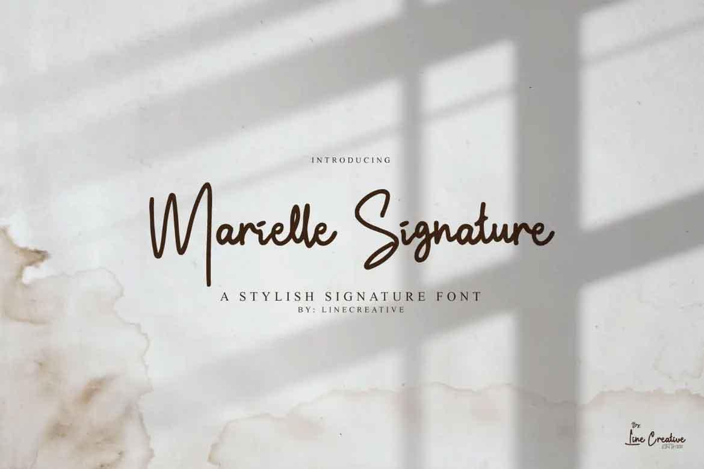 Marielle Signature Font
