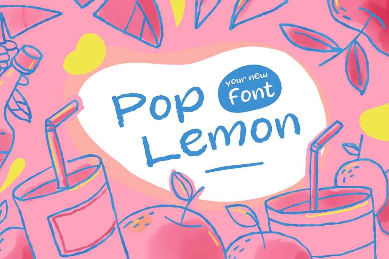 Pop Lemon Font