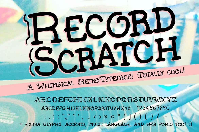 Record Scratch Font