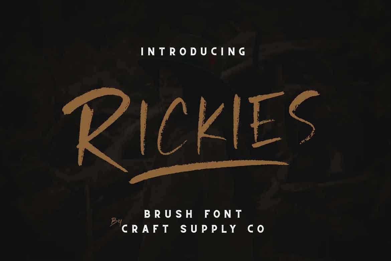 Rickies Font