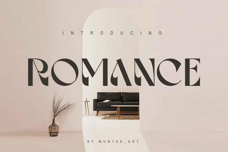 Romance Font