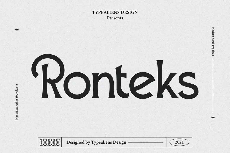 Ronteks Font