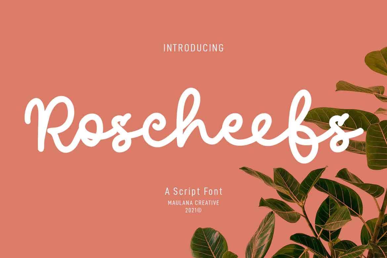 Roscheefs Script Font