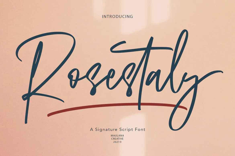 Rosestaly Font