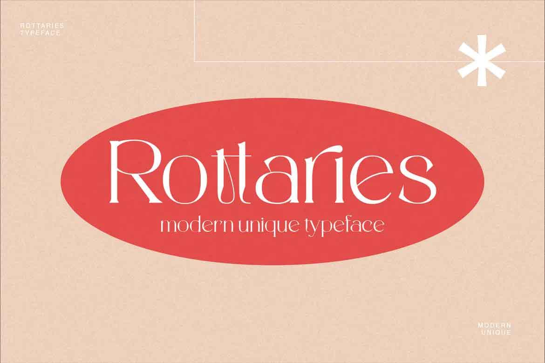 Rottaries Font