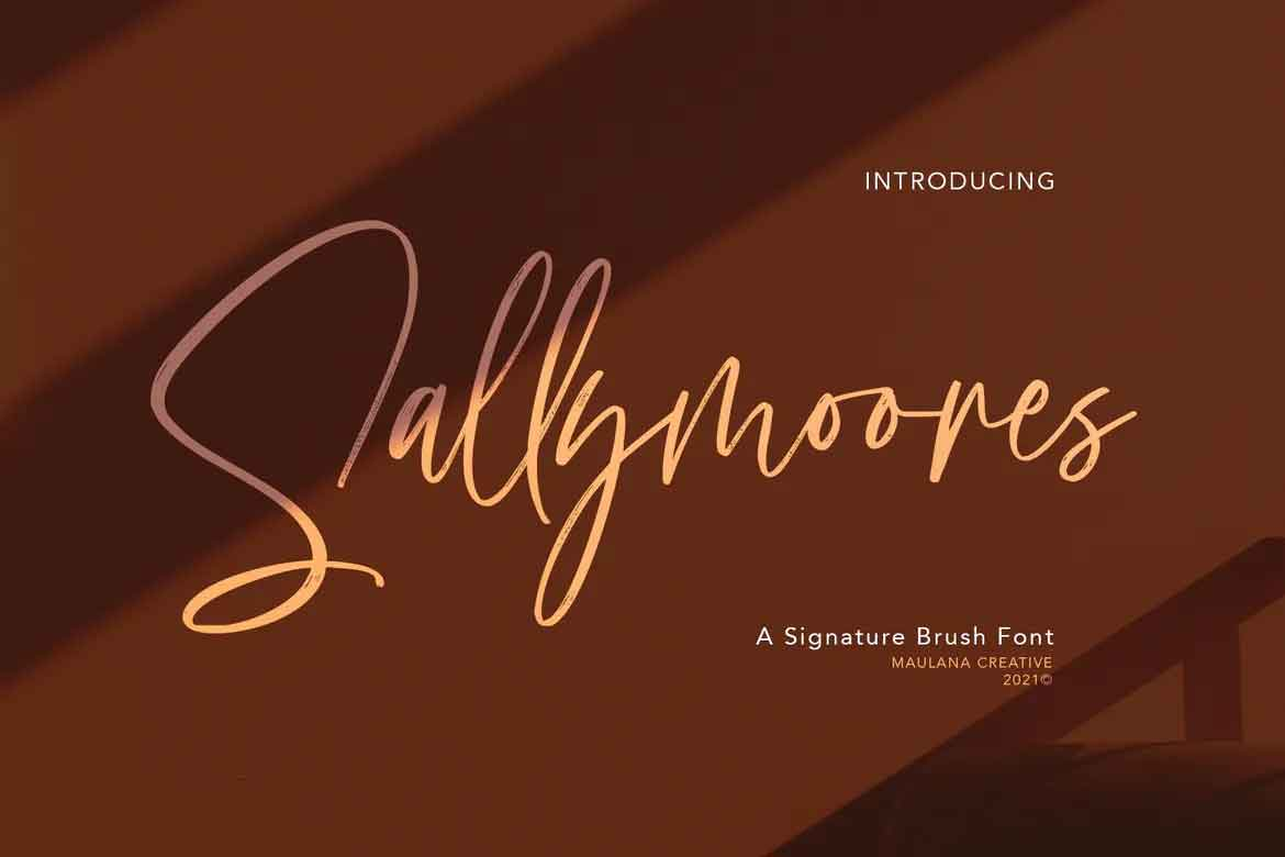 Sallymoores Signature Font