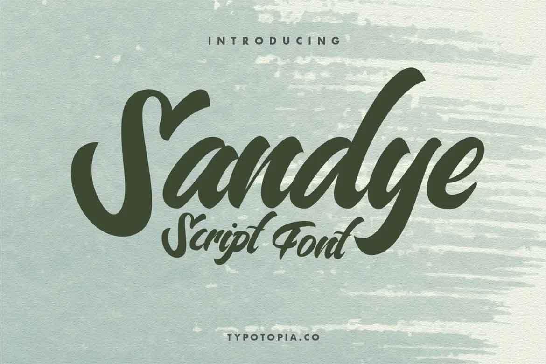 Sandye Script Font