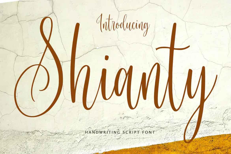 Shianty Script Font