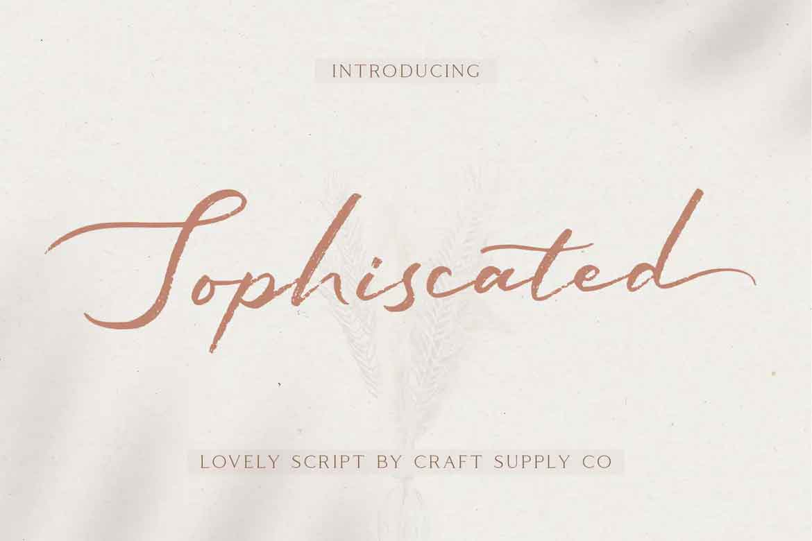 Sophiscated Font