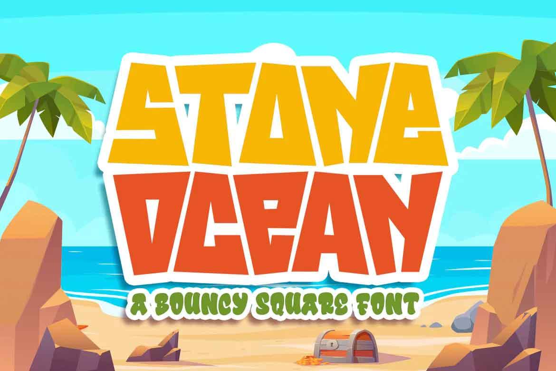 Stone Ocean Font