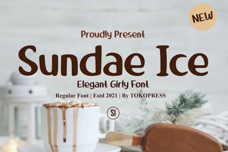 Sundae Ice Font