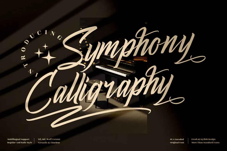 Symphony Calligraphy Font