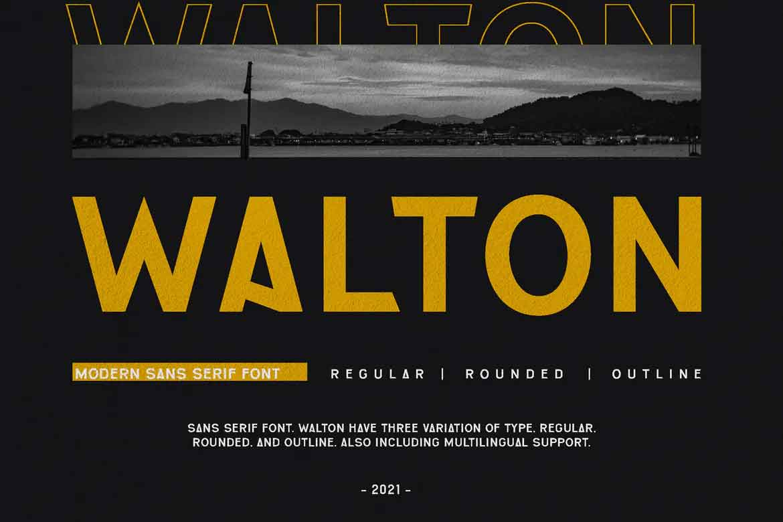 Walton Font