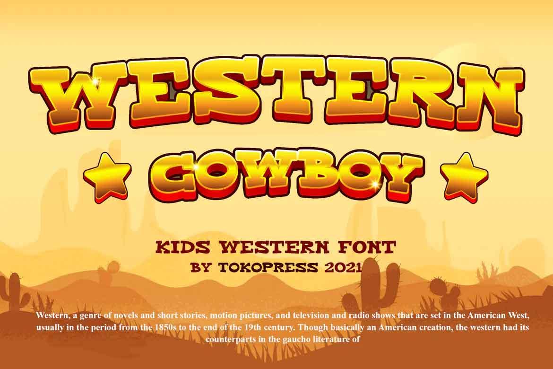 Western Cowboy Font