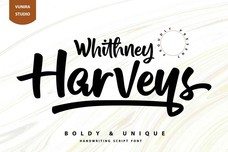 Whithney Harveys Font