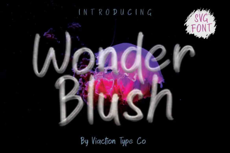 Wonder Blush Font