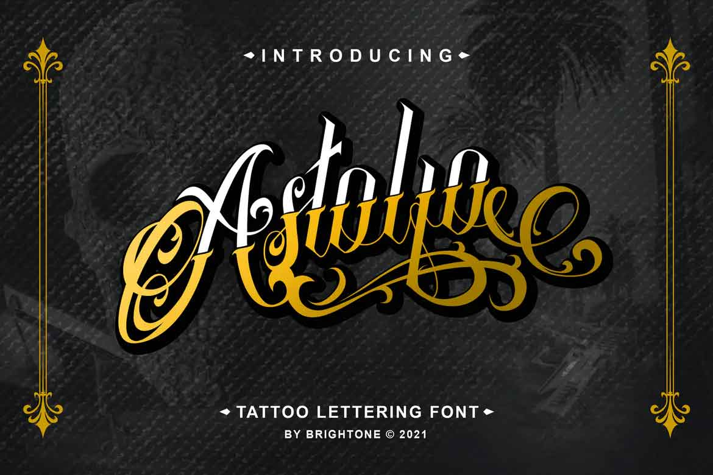 Astolfo - Tattoo Font