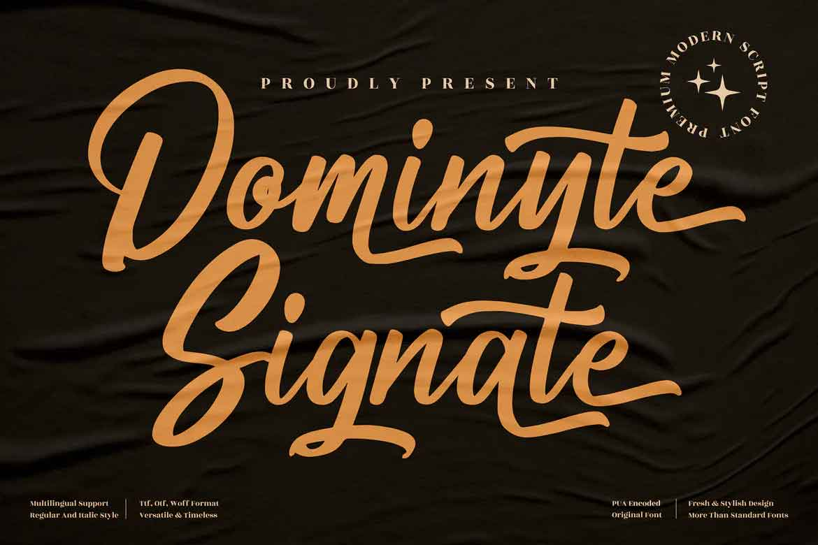 Dominyte Signate Font