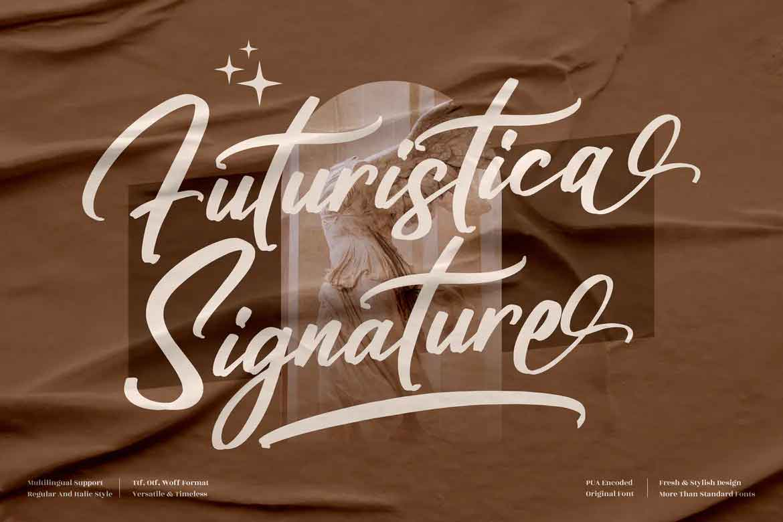 Futuristica Signature Font
