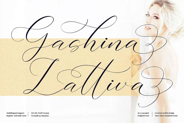 Gashina Lattiva Font
