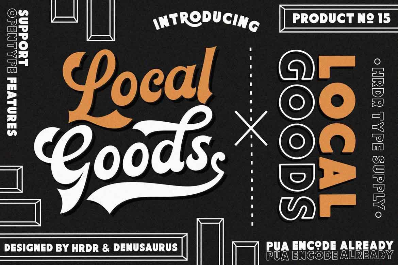 Local Goods Font
