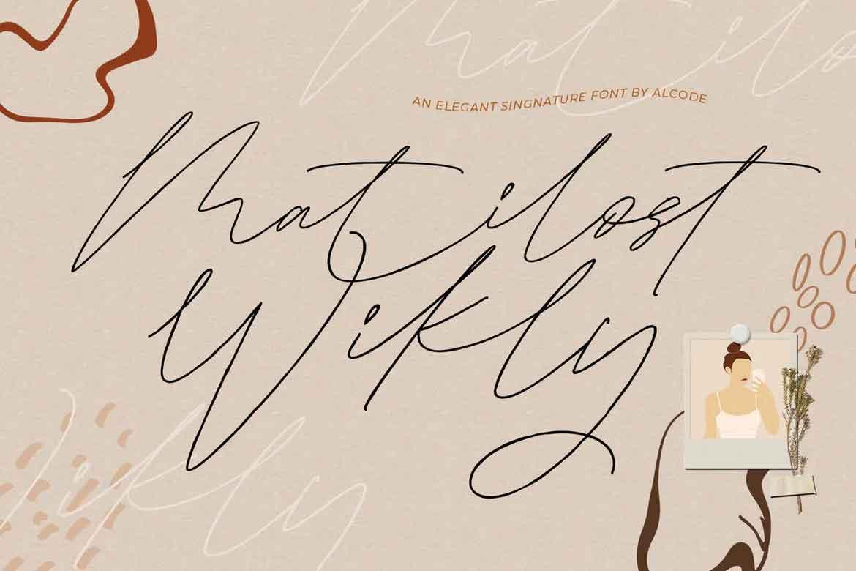 Matilost Wikly Font