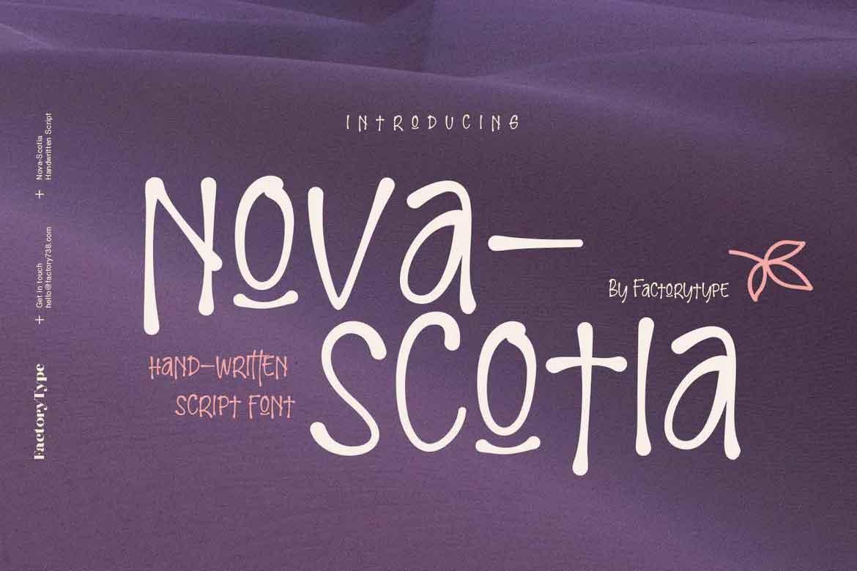 Nova-Scotia Font